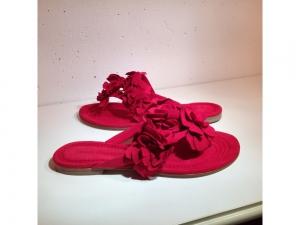 Kennel & Schmenger - Leder-Sandale mit Blüten - ..