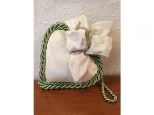 Stoff-Herz gross - handmade - mint