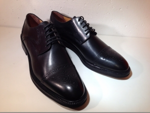 Calpierre - eleganter Herren - Lederschuh - schwarz