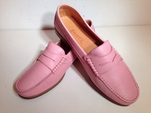 Edward's - Damen-College-Softlederschuh - rosa
