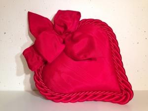 Stoff-Herz gross - handmade - rot