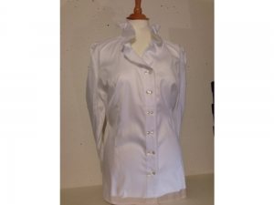 B.M.-company Blousemakers - elegante Bluse langarm - weiss