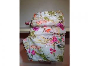 COTTON LINE - 3/4 Damenhose - Blumenmuster