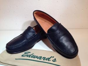 Edward's - Damen-College-Softlederschuh - dunkelblau